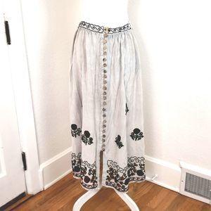 Sacred Threads Boho Hippie Festival Skirt
